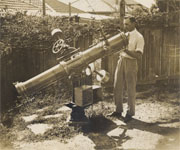 Ken Beames with first telescope